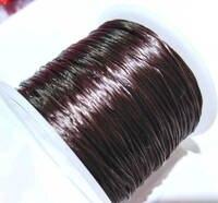 Оптовая продажа 2 комплекта коричневый elasitc стрейч полиэстер 1 мм Шнур кофе ювелирный браслет кристалл шнура 100 м roll
