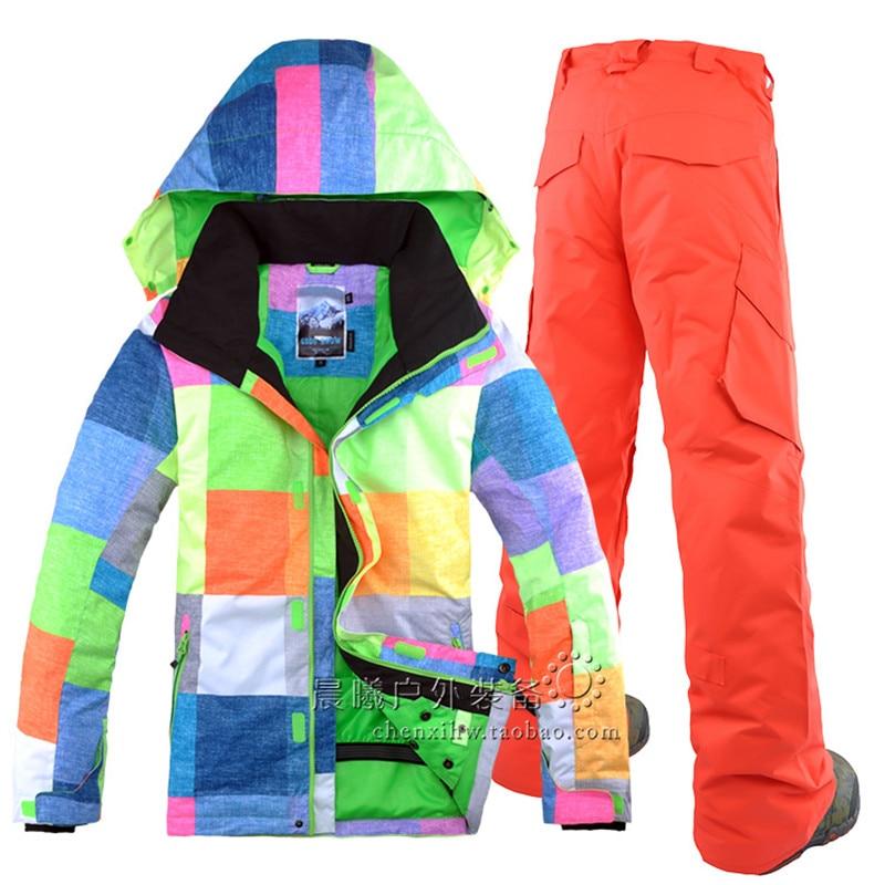 Prix pour Hiver double plaque Snowboard vêtements Hommes couleur extérieure imperméable coupe-vent ski costume le Nouveau Sud-Coréen loisirs sport