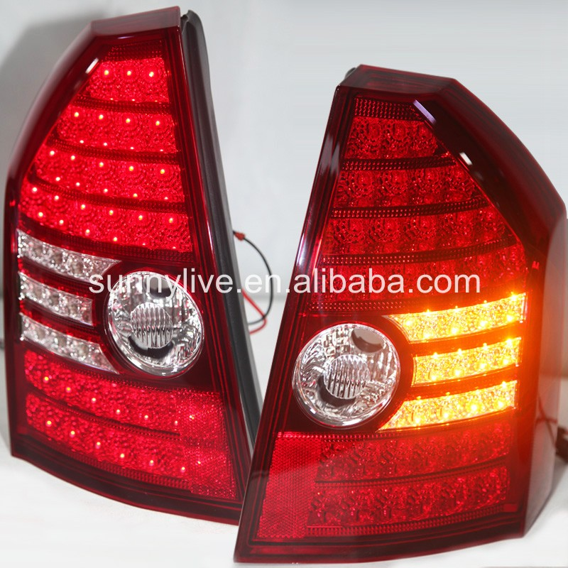 For Chrysler 300C LED Tail Lamp 2008 2010 year Red White WH