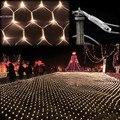 Festival 100 Lâmpadas LED Decoração Do Casamento UE Ficha 220 V Guirlanda ano Novo Led Luzes De Natal Cortina de poupança de energia B16