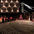 Festival 100 LED Bulbs Wedding Decoration EU Plug 220V Garland New year Led Christmas Lights Curtain Energy saving B16