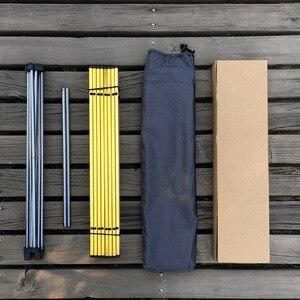 Image 4 - Mesa plegable portátil, plegable, para Camping, barbacoa, senderismo, azul, Mini para mochila, escritorio, viaje, pícnic al aire libre, aleación de aluminio, ultraligero