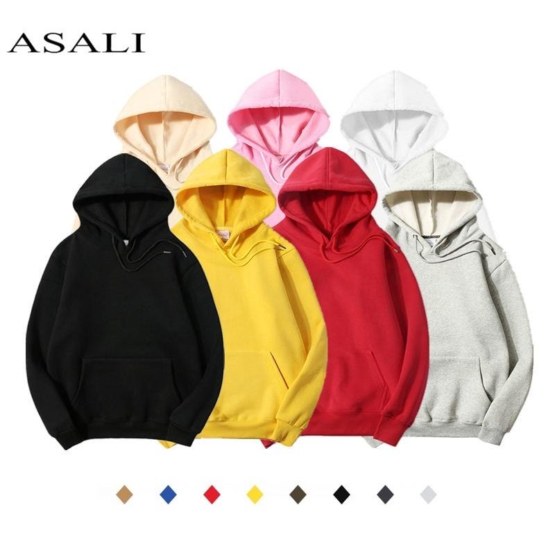 Fleece Polyester Pullover Coat Men Hoodie Hooded Solid Color Casual 100% Cotton Sweatshirts Hip Hop Mens Street Style Hoodies