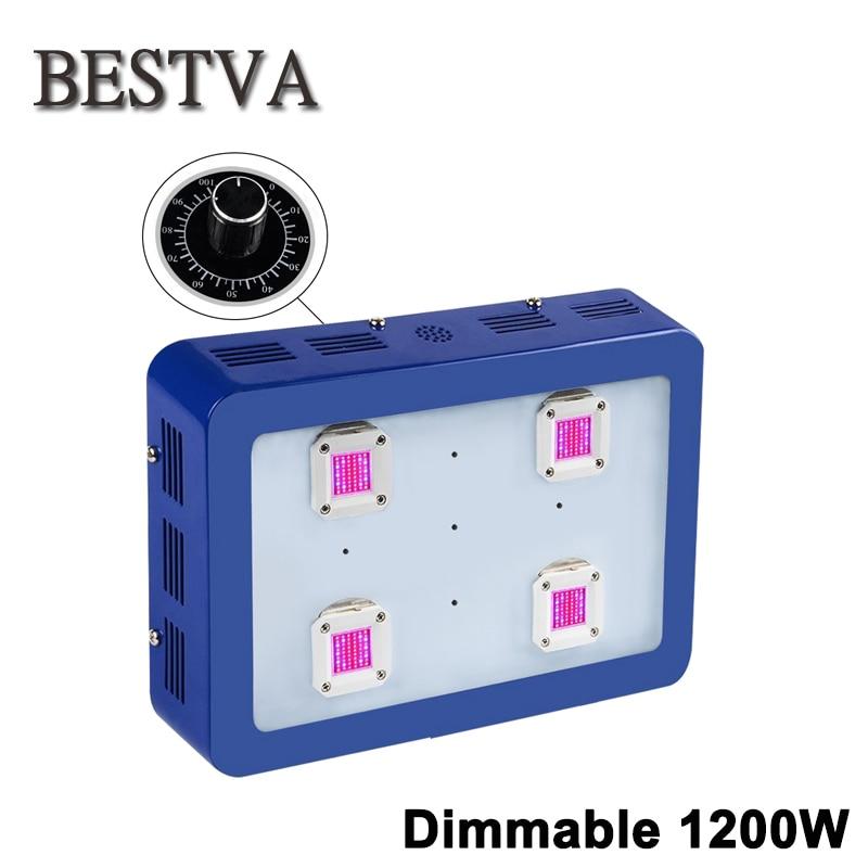 BESTVA затемнения X4 1200 Вт светодиодный светать COB светодиодный светать модуль Дизайн полный спектр для парниковых гидропоники рост лампа
