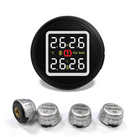 kongyide Tire Pressure Monitor Careud Wireless Tire Pressure Monitoring System TPMS with 4 External Sensors DC8V 16V dropship m6