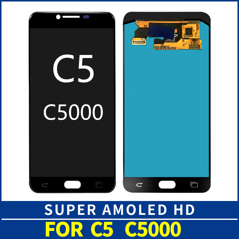 5.2 SUPER AMOLED Display for SAMSUNG Galaxy C5 LCD Display C5000 Touch Screen Digitizer Replacement Parts ssembly5.2 SUPER AMOLED Display for SAMSUNG Galaxy C5 LCD Display C5000 Touch Screen Digitizer Replacement Parts ssembly