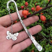 Glow In The Dark Butterfly Dragonfly Bookmark Book Marker Stationery DIY Luminous Bookmarks