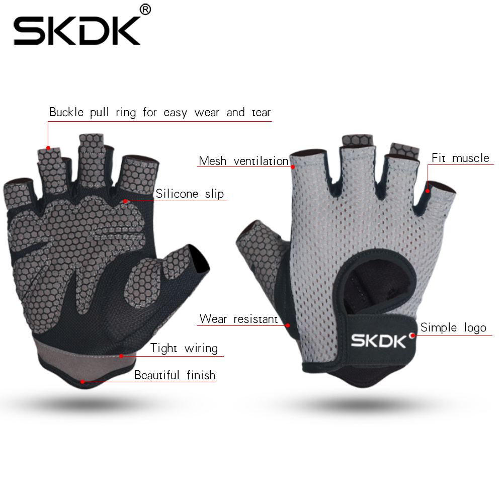Breathable Fitness Gloves Silicone Palm Hollow Back Gym Gloves Weightlifting Workout Dumbbell Crossfit Bodybuilding Accessorie 2