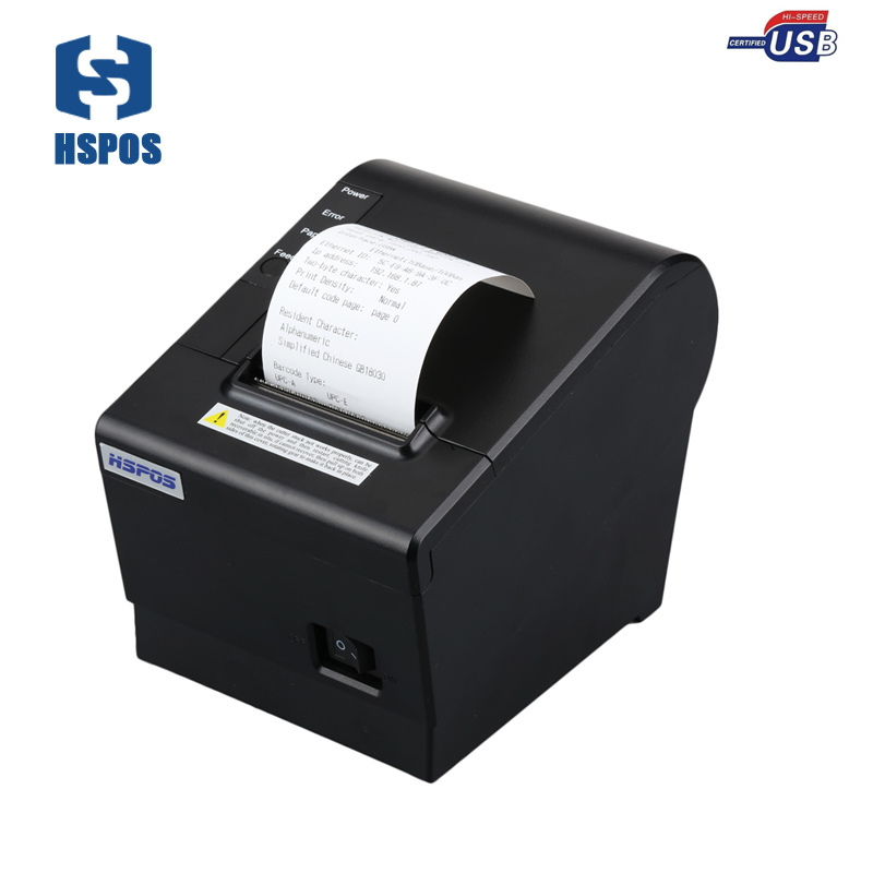 Quality pos 58mm thermal receipt printer usb port with auto cutter small ticket printer high speed printing for supermarket usb interface 58mm pos receipt printer thermal printing with power supply built in free shipping