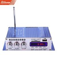 HY 502 USB FM Audio Car Stereo Amplifier Radio MP3 Speaker LED Hi Fi 2 Channel