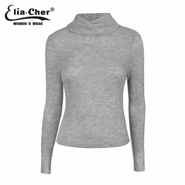 Pullover Women Winter Sweater 2017 Full Sleeve Lady Tops Eliacher Brand Plus Size Casual Women Clothing Fashion Women Tops