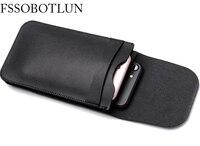FSSOBOTLUN Universal 6 0 Inch Double Pocket Waist Belt Microfiber Leather Case For Sony Xperia XA