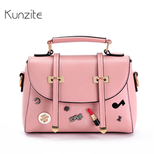 Kunzite Brand Luxury Designer Satchels Bags Pu Leather Women Handbag Women Messager Bag Casual Tote Bags ladies sac a main 2017