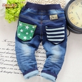 sale! Free shipping 2017 Spring and autumn baby boy star sofe jeans children's clothing male child denim trousers 1-4 years