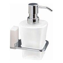 Дозатор жидкого мыла WasserKRAFT Leine K-5099 WHITE (Металл, хромоникелевое покрытие, уплотнительные пластиковые кольца, матовое стекло)