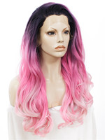 cosplay wigs Imstyle loose Wavy Three-tone color pink 26