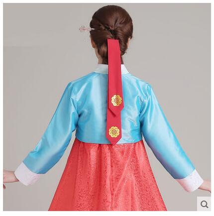 2 Piece Autumn Ladies Traditional Korean Costumes Hair Belt Hanbok Costumes Accessories Bronzing Fluttering Ribbon Hair Belt