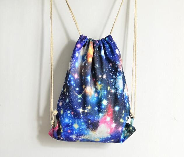 2 pieces Unisex Galaxy Printing Travel Drawstring Bag Student Teenager  School Schoolbag For Girl Boy-in Backpacks from Luggage & Bags on  Aliexpress.com ...