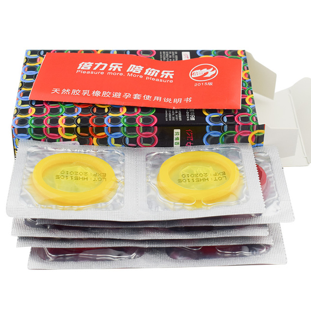 10Pcs multiple color condoms innocent fun 10 fitted condoms wholesale For women Excited orgasm sex products sex toys for men