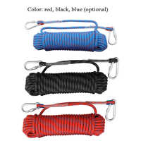 10m/20m Outdoor Rock Climbing Rope Rock Climbing Equipment 10mm Diameter Emergency Paracord Rescue Safety Rope Hiking Accessory