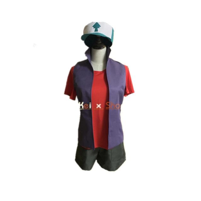 Бесплатная доставка Косплэй костюм Гравити Фолз Диппер Пайнс cos равномерное платье новое в наличии Хэллоуин аниме