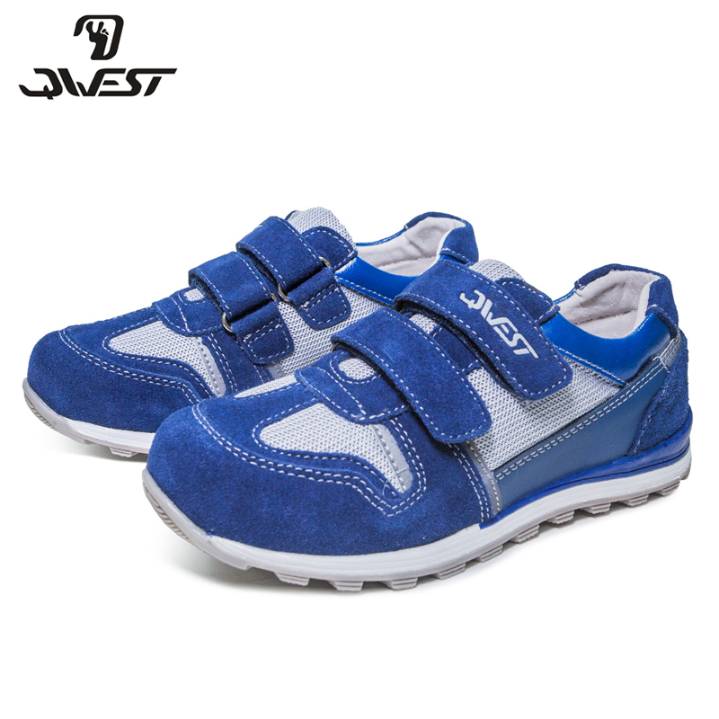 QWEST(by FLAMINGO) New Patchwork Spring&Summer Breathable Hook&Loop Outdoor Walking Shoes For Boy Free Shipping 81P-XY-0662