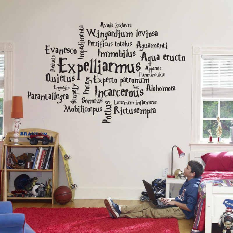 Rowling Movie osobowość Harry Magic Manga Anime dla fanów filmowych chłopiec sypialnia naklejka ścienna dekoracja domu mural DY36