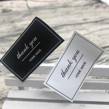 270 Teile/los 5x2,7 Cm Schwarz Weiß Danke Dichtung Aufkleber Geschenk Für  Hausgemachte