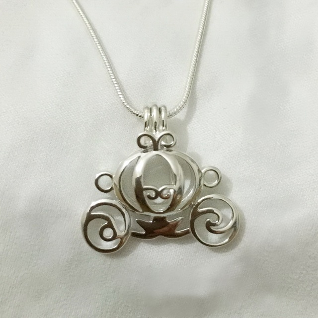 925 silver carriage locket cage pendant mounting can open sterling 925 silver carriage locket cage pendant mounting can open sterling silver pumpkin style pearl pendant aloadofball Image collections