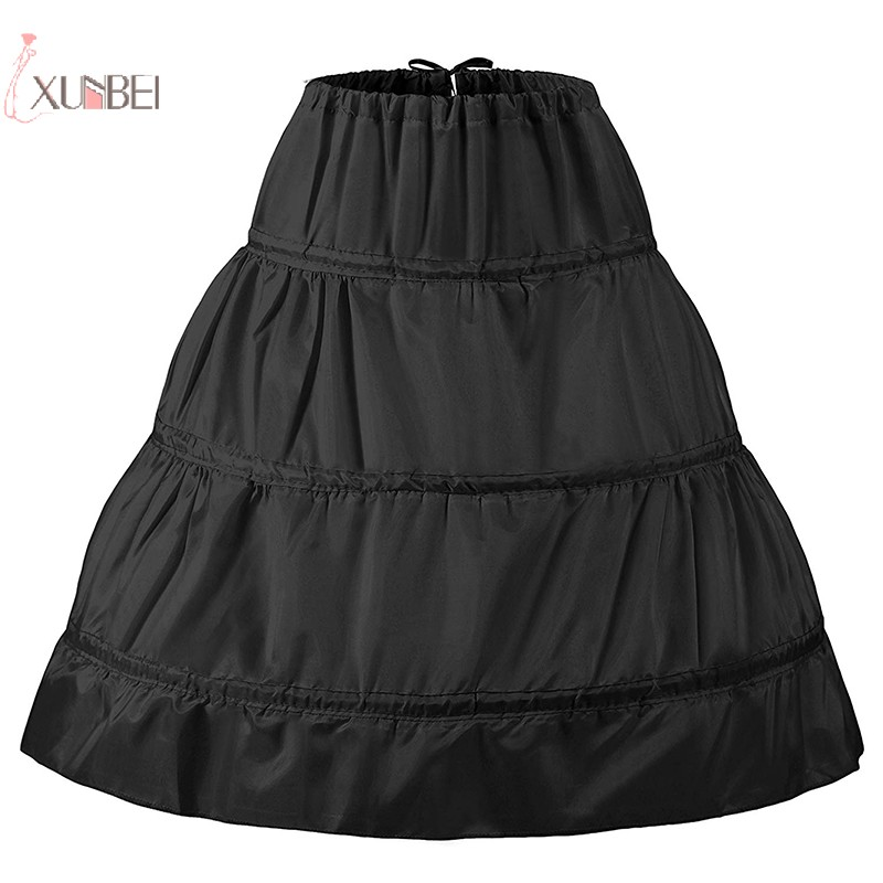 New 3 Hoop Bridal Wedding Petticoat Crinoline Girl Petticoat Mariage Skirt Underskirt Jupon Wedding Accessories