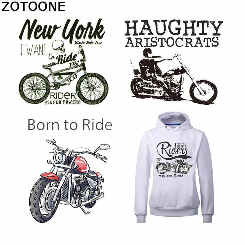 Zotoone Brief Patches Voor Kleding Motorcycle Bike Ijzer Op Transfers Voor Kleding Warmteoverdracht Stickers Applicaties Accessoire E