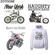 ZOTOONE Letter Patches for Clothes Motorcycle Bike Iron on Transfers Clothing Heat Transfer Stickers Appliques Accessory E