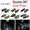 16pc X Canbus Error Free LED Lamp Interior Dome Map Light Kit Package For Porsche Boxster