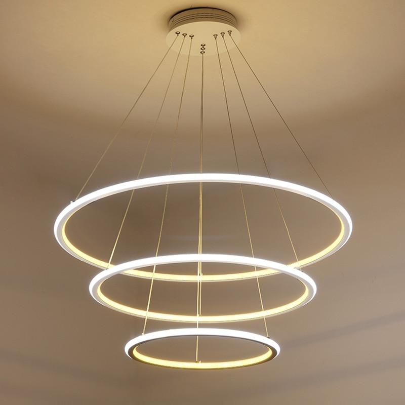 Buy modern led circle ring pendant for Chandelier lights for living room