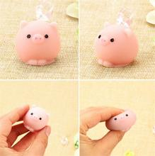 Kawaii Mini Mochi Bunny Squeeze Stretchy Home Decoration Pig Ball Squishy Slow Rising Pendant Bread Cake Kids Toy Gift(China)