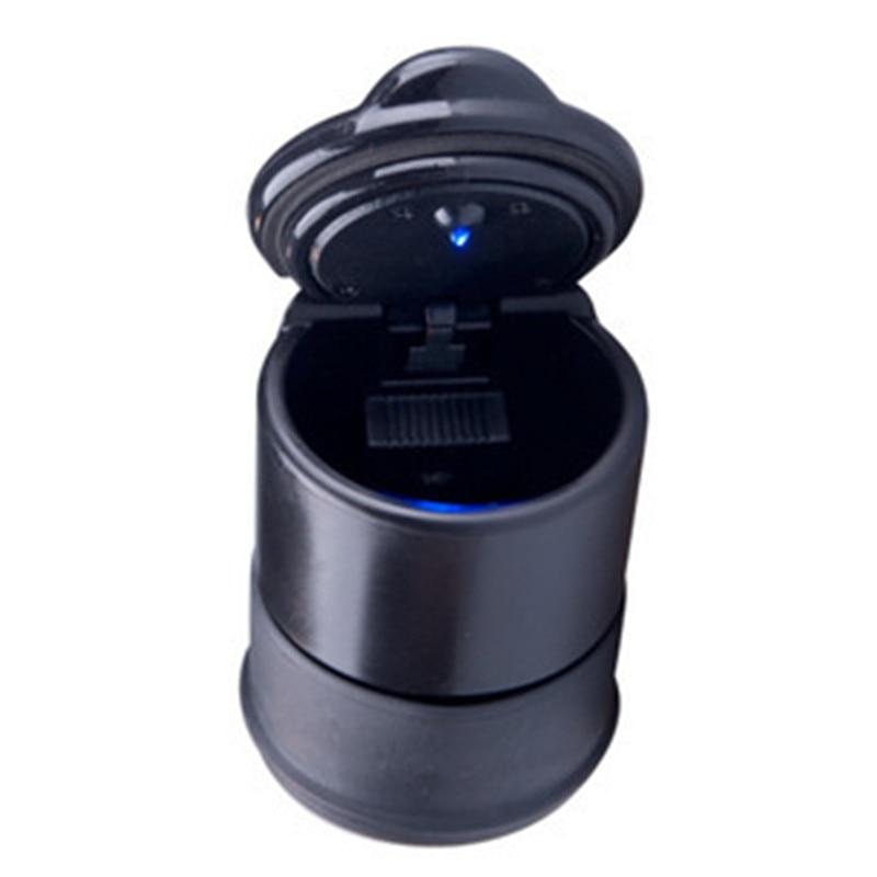 LED Portable Car Ashtray Creative Fashion Ashtray Trash Bin With LED Lamp Vehicle Ashtray Report