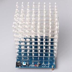 Image 5 - 무료 배송 공장 가격 프로모션!!! 8x8x8 LED 큐브 3D 라이트 스퀘어 블루 LED 전자 DIY 키트 강화 능력