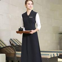 Одежда для работы дома и фортепиано в китайском стиле, винтажное платье Exlong для спа, Униформа, Модная элегантная жилетка с v-образным вырезом, униформа медсестры, распродажа