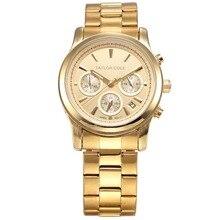 Тейлор коул люксовый бренд Relogio Feminino золотой набор из стальной лентой хронограф женщины мода кварцевые часы / TC006