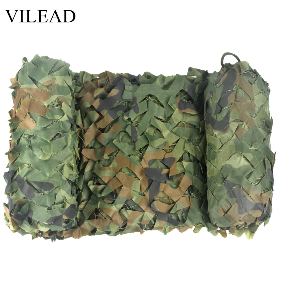 VILEAD 2M * 4M Hunting Military Camouflage Nets Woodland Army Camo Netting Camping Sun Shelter Tent Shade Net Car Awning Shelter