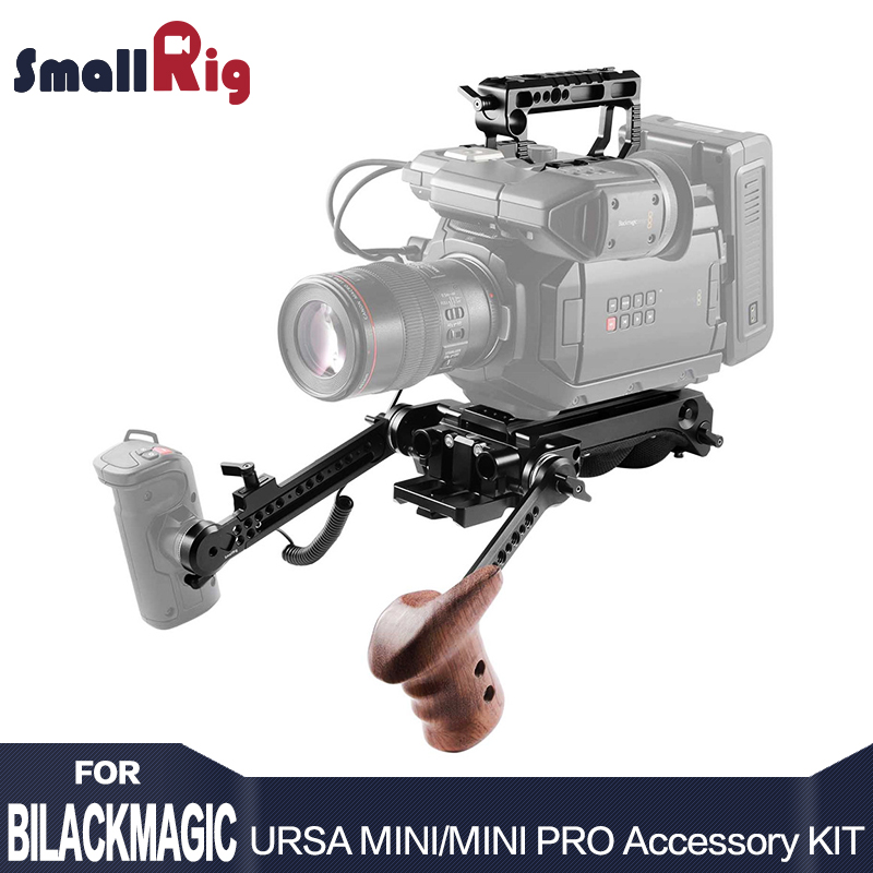 SmallRig Accessory Kit for Blackmagic URSA Mini/ URSA Mini Pro With Shoulder Support System Top Handle With Wooden Handle 2030 kitrcp268888gyuns03008 value kit rubbermaid slim jim handle top rcp268888gy and unisan plunger for drains or toilets uns03008