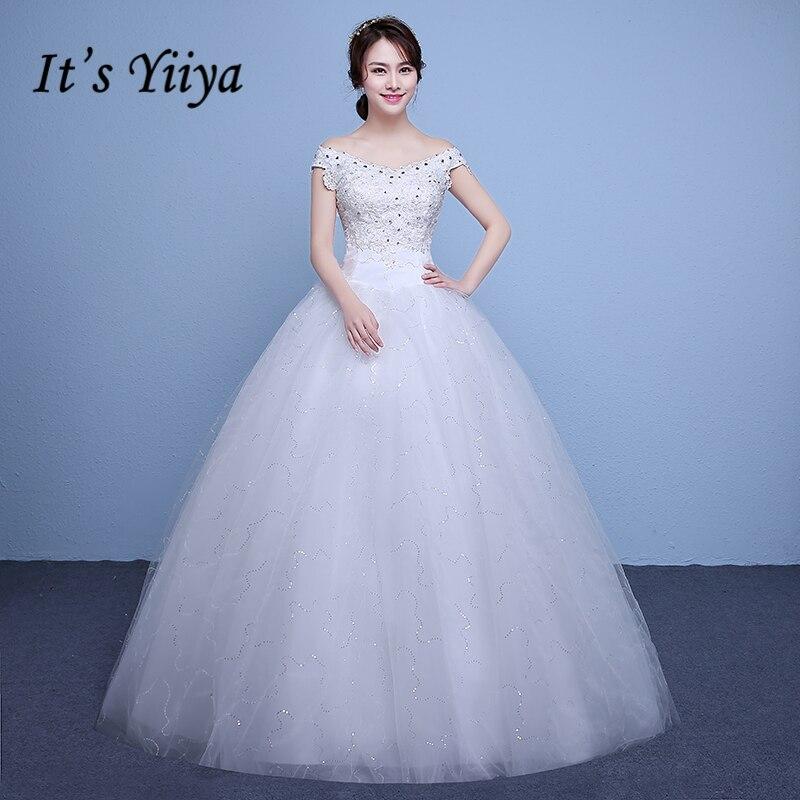 Cheap Wedding Dresses 2017 Lace Wedding Gowns Princess: New 2017 Plus Size V Neck Lace Sequins Wedding Dresses