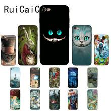 RuiCaiCa Alice in Wonderland cat роскошный уникальный дизайн PhoneCase для iPhone X XS MAX 6 6 S 7 7 plus 8 8 Plus 5 5S XR(China)