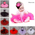 Princess Tutu Newborn Infant Tutu Skirt With Headbands Kids Baby Tutu Set for Photo Prop Fluffy Tulle Skirts For NB-24Month