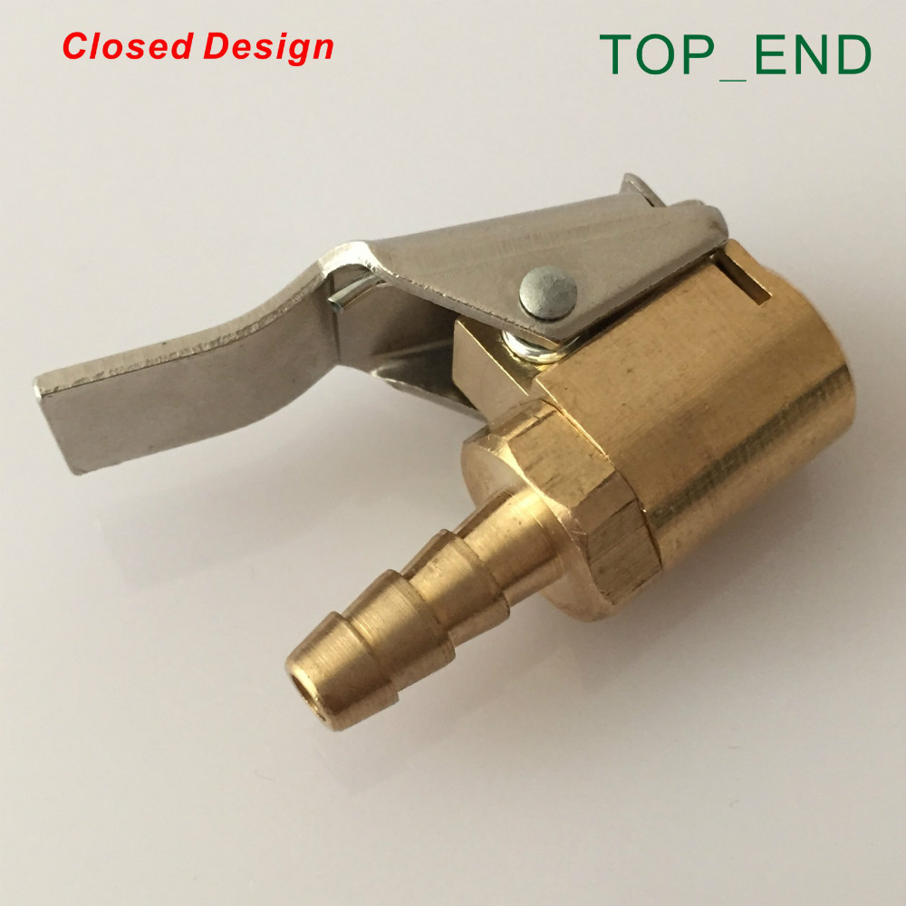 6x15mm,Closed Design,Original Brass,Euro Style Air Chuck,Barbed End,Professional And High Quality Tire/Tyre Repair Tool Inflator