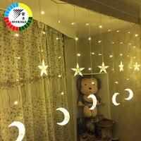 Fairy String Lights Wedding Lamp Curtain Led String Christmas Tree Decoration Stars Garden Outdoor Lucine Decorative