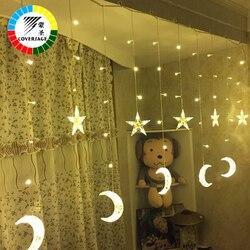 Coversage مصباح الستار led سلسلة الجنية سلسلة أضواء الزفاف شجرة عيد الميلاد الديكور حديقة في lucine الزخرفية كورتينا