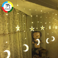 Coversage Fairy String Lights Wedding Lamp Curtain Led String Christmas Tree Decoration Garden Outdoor Lucine Decorative Cortina