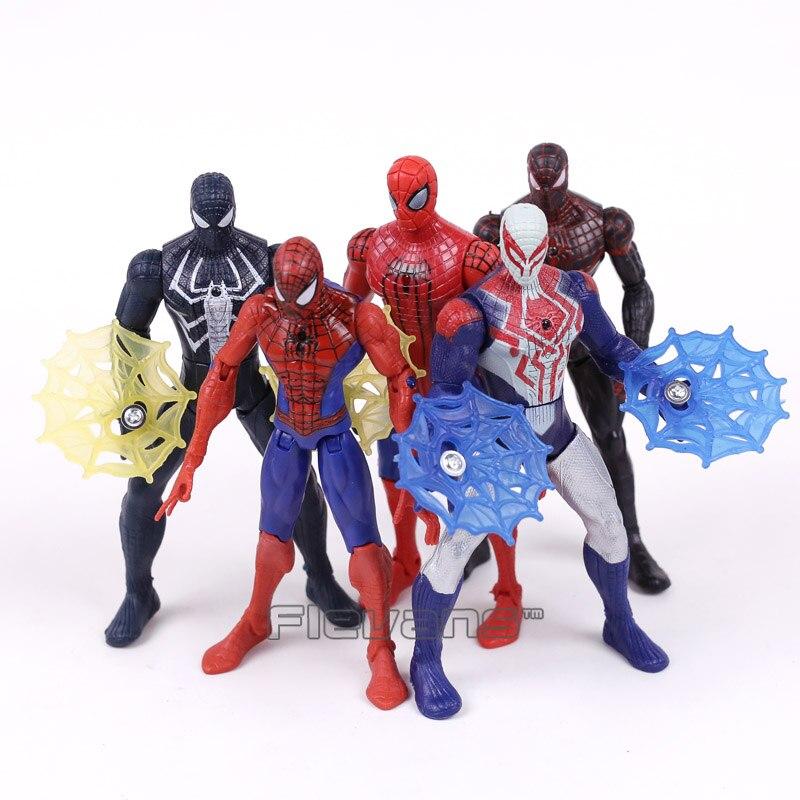Новый фильм Человек-паук выпускников человеком-пауком Железный человек PVC Фигурки Коллекционная модель Игрушечные лошадки