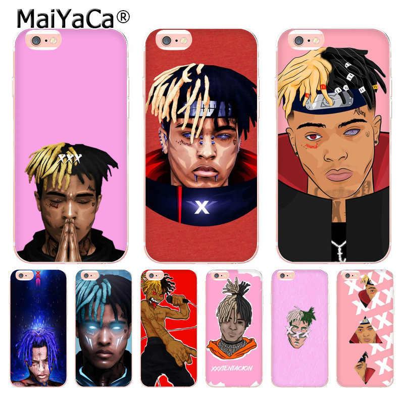 MaiYaCa XXXTENTACION Coque Shell чехол для телефона iPhone 8 7 6 6 S Plus X 10 5 5S SE 5C XS XR XSMAX